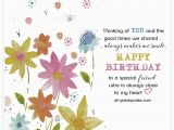 Happy Birthday My Special Friend Quotes Happy Birthday to A Special Friend Very Cute Free Friend