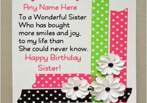 Happy Birthday Online Cards With Name Beautiful Wishes For Sister Photo