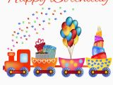 Happy Birthday Online Cards with Name Write Name On Happy Birthday Card with Cartoon Train