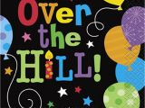 Happy Birthday Over the Hill Quotes Over the Hill Balloon Beverage Napkins 16ct