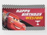 Happy Birthday Queen Banner Cars Lightning Mcqueen Birthday Banner Zazzle Com