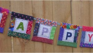 Happy Birthday Quilt Banner A Happy Birthday Quilt Banner Small Quilting Projects