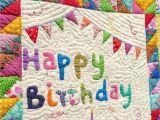 Happy Birthday Quilt Banner Happy Birthday Quilt Happy Birthday Happy Birthday