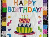 Happy Birthday Quilt Banner Quilted Happy Birthday Wall Hanging or Baby Blanket 30 X