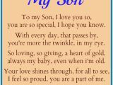Happy Birthday Quote for My son Dear son Quotes Quotesgram