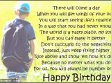 Happy Birthday Quote for son Happy Birthday to My son In Heaven Quotes Quotesgram