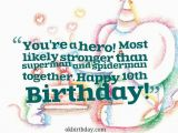 Happy Birthday Quotes for 5 Year Old son Happy 10th Birthday son Quotes Quotesgram