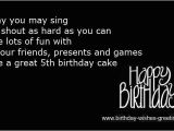 Happy Birthday Quotes for 5 Year Old son Happy 5th Birthday Boy Quotes Baby Quotesgram