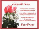 Happy Birthday Quotes for A Close Friend Happy Birthday Dear Friend Free for Best Friends Ecards