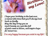 Happy Birthday Quotes for A Lover Happy Birthday My Love Lovers Poems by oriza Net