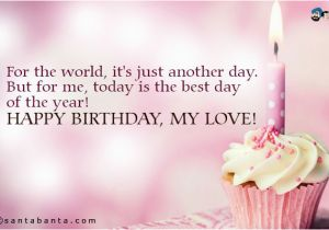 Happy Birthday Quotes for A Lover Happy Birthday My Love Quotes Quotesgram