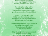 Happy Birthday Quotes for A Passed Loved One Birthday Quotes for someone Passed Quotesgram