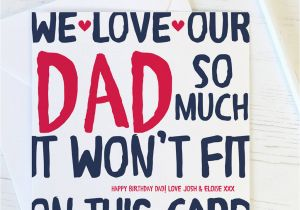 Happy Birthday Quotes For Baby Daddy Love My Our Dad Card By Wink Design