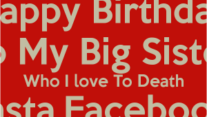 Happy Birthday Quotes for Big Sister Big Sister Birthday Quotes Quotesgram