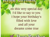 Happy Birthday Quotes for Brother In English Happy Birthday My Dear Brother Quotes Wishes Greetings