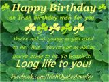 Happy Birthday Quotes for Businessmen An Irish Birthday Wish Happy Birthday event Irish