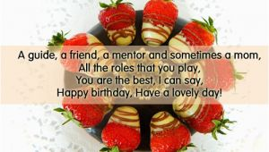 Happy Birthday Quotes for Mentor Birthday Wishes for Sister