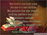 Happy Birthday Quotes for My Teacher Birthday Poems for Teacher