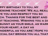 Happy Birthday Quotes for My Teacher Teacher Happy Birthday Wishes and Quotes Happy Birthday
