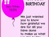 Happy Birthday Quotes for son From Mom Happy Birthday Mom Quotes Birthday Quotes for Mother