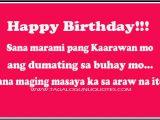 Happy Birthday Quotes Tagalog Filipino Birthday Quotes Quotesgram