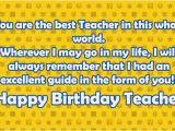 Happy Birthday Quotes to A Teacher Happy Birthday Teacher Wishes Quotes 2happybirthday