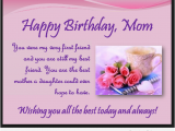 Happy Birthday Quotes to Daughter From Mother Happy Birthday Mom Quotes From son and Daughter Image