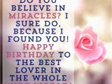 Happy Birthday Quotes to Your Lover 45 Cute and Romantic Birthday Wishes with Images