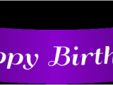 Happy Birthday Ribbon Banner Clipart Happy Birthday Purple Banner Png Clip Art Gallery
