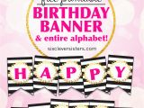 Happy Birthday Signs Printable Free Free Printable Happy Birthday Banner and Alphabet Six