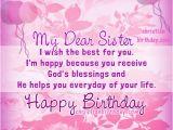 Happy Birthday Sister Christian Quotes Happy Birthday My Dear Sister Christian Card Christian