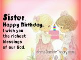 Happy Birthday Sister Christian Quotes Wishing Happy Birthday to My Sister Quotes Christian
