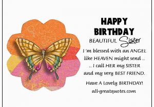 Happy Birthday Sister In Heaven Quotes Free Cards For Facebook Online Friends Family