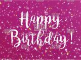 Happy Birthday Sparkling Cards Sparkly Purple Happy Birthday Greeting Card Video Stock