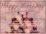 Happy Birthday Sweet Quotes for Her Happy Birthday to A Sweet One Free Happy Birthday Ecards
