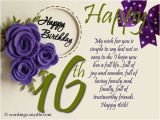 Happy Birthday Sweet Sixteen Quotes 16th Birthday Wishes Messages and Greetings Wordings