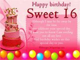 Happy Birthday Sweet Sixteen Quotes Birthday Wishes for Sixteen Year Old Wishes Greetings