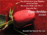 Happy Birthday Sweetheart Quotes Red Rose for My Love Wife Sweetheart Birthday Wishes