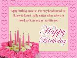 Happy Birthday Sweetie Quotes Advance Birthday Wishes Wishes Greetings Pictures