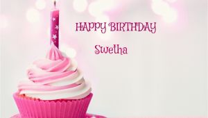 Happy Birthday Swetha Quotes Happy Birthday Cupcake Candle Pink Cake for Swetha