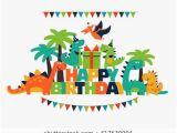 Happy Birthday T Rex Banner Dinosaur Birthday Images Stock Photos Vectors