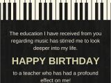 Happy Birthday to A Musician Quotes Happy Birthday Teacher Wishes for Professors Instructors