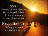 Happy Birthday to A son Quotes Birthday Card for son Quotes Quotesgram by Quotesgram
