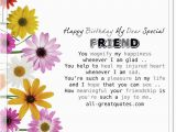 Happy Birthday to A Special Friend Quotes Happy Birthday My Dear Special Friend Free Birthday Cards