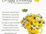 Happy Birthday to A Special Friend Quotes Verse for Card Best Girl Friend 80 Birthday Verse