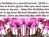 Happy Birthday to A Special Person Quotes Birthday Wishes Quotes