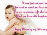 Happy Birthday to My 1 Year Old son Quotes Birthday Wishes for My Little Daughter Wishes Greetings