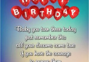 Happy Birthday To My 3 Year Old Daughter Quotes 3rd Wishes Images For