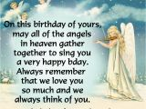 Happy Birthday to My Angel In Heaven Quotes Happy Birthday In Heaven Messages Heavens Garden