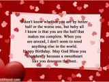 Happy Birthday to My Other Half Quotes Romantic Birthday Wishes for Fiance Male